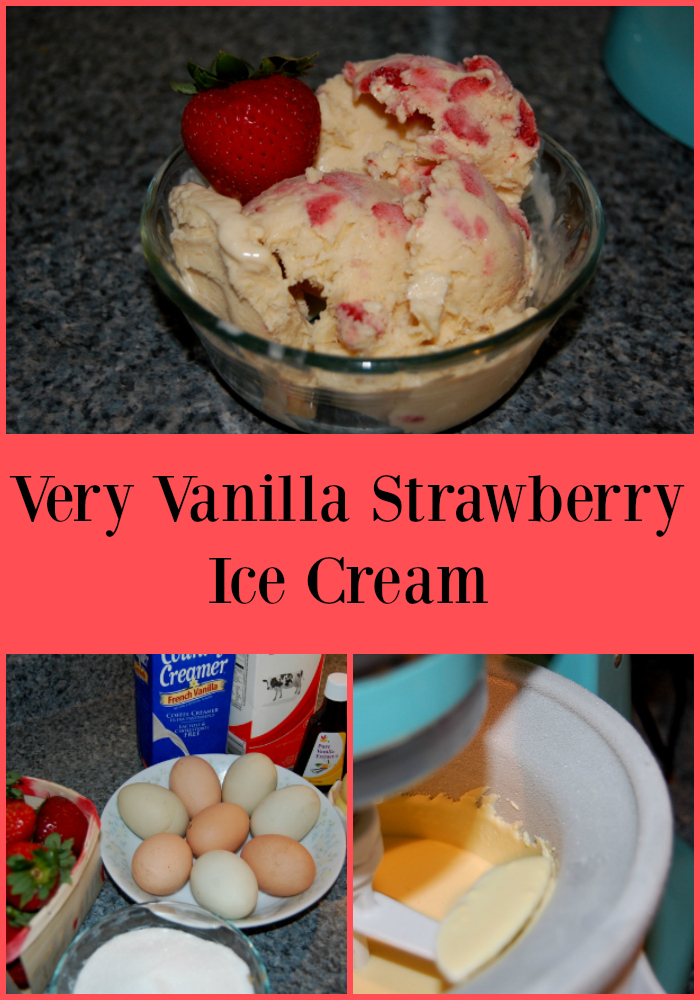 Once you try this Very Vanilla Strawberry Ice Cream you will never want to go back to store bought ice cream again!