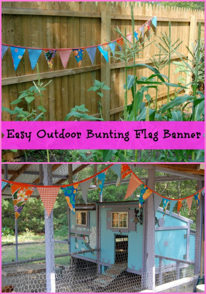 Make up some adorable outdoor bunting flags for a summer party feel everyday!
