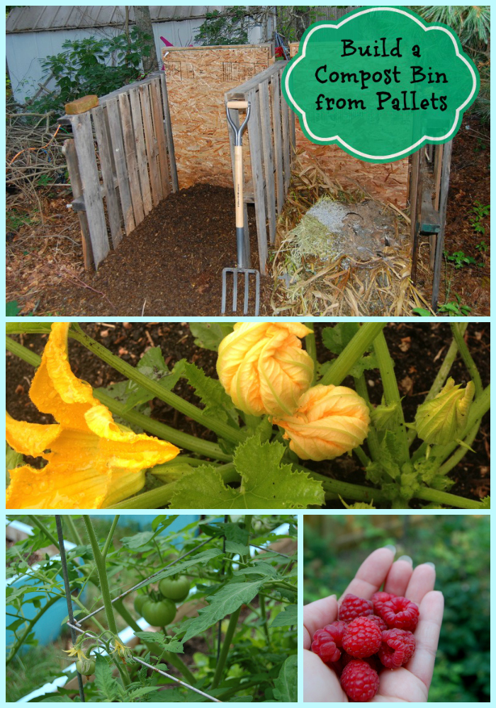 Don't spend hundreds on a compost tumbler, make your own compost system for free with just a few pallets!