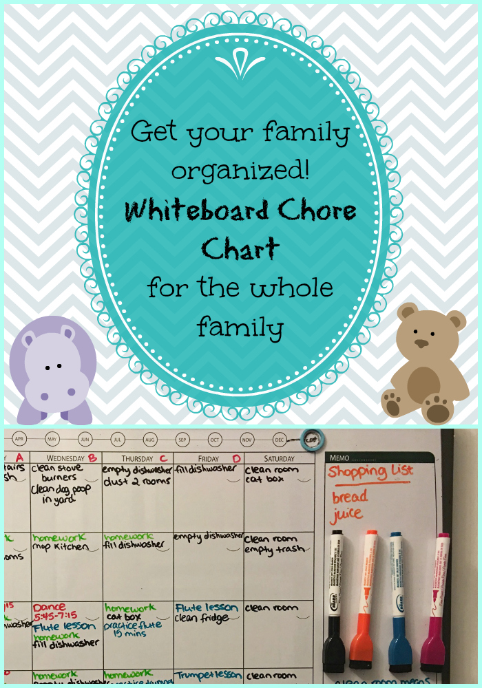 Get your family organized this year with our whiteboard chore chart!