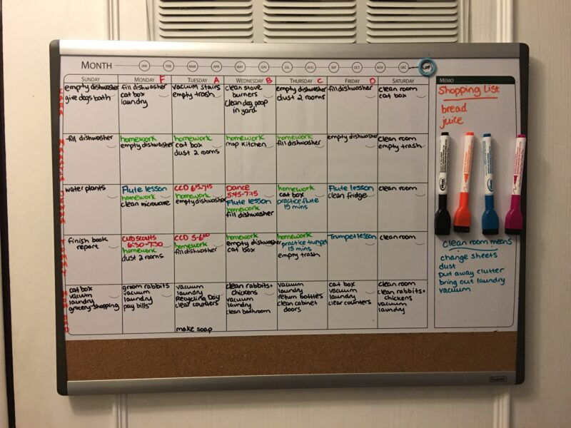 Get your family organized this year with our whiteboard family chore chart!