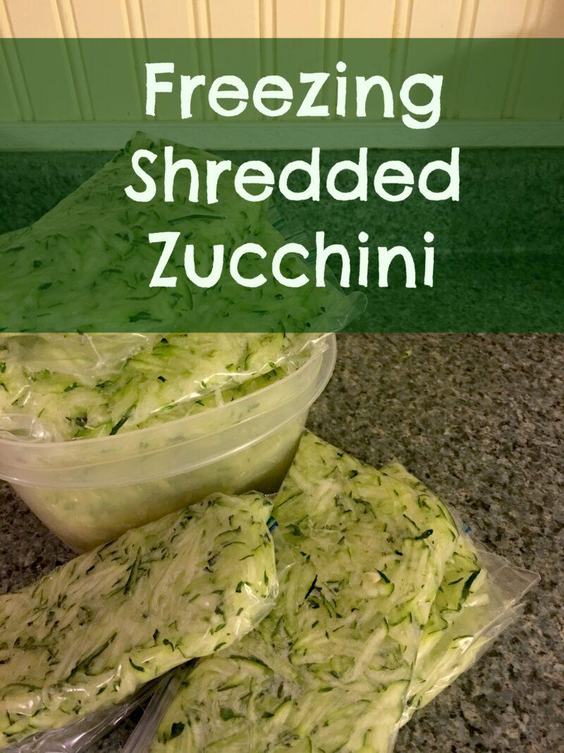 Freezing Shredded Zucchini The Cape Coop